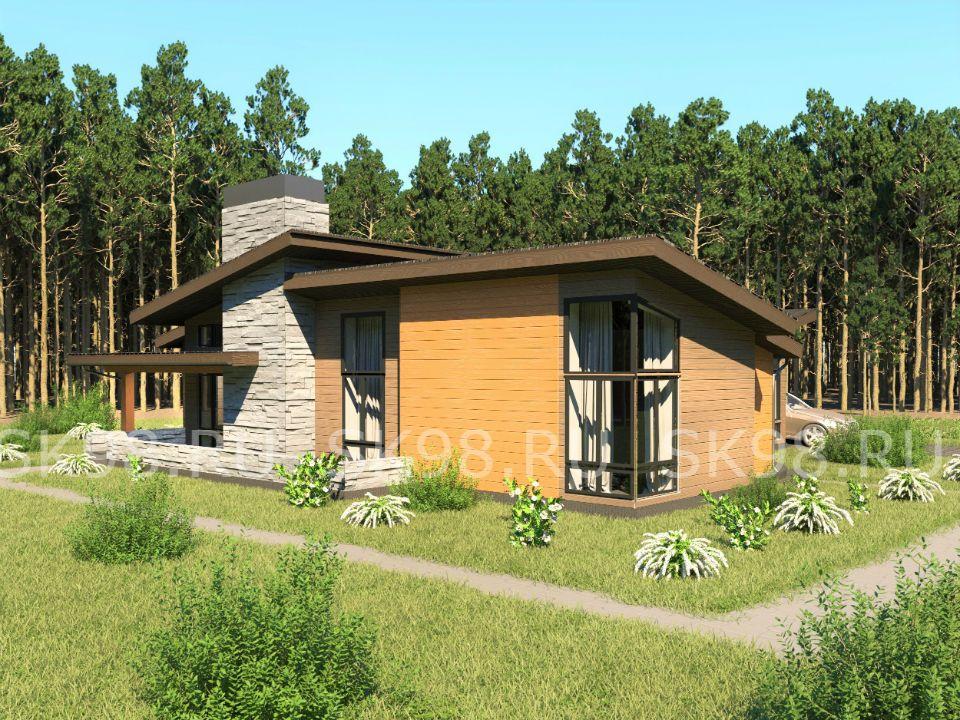 проект одноэтажного дома с гаражом 200 м. кв.