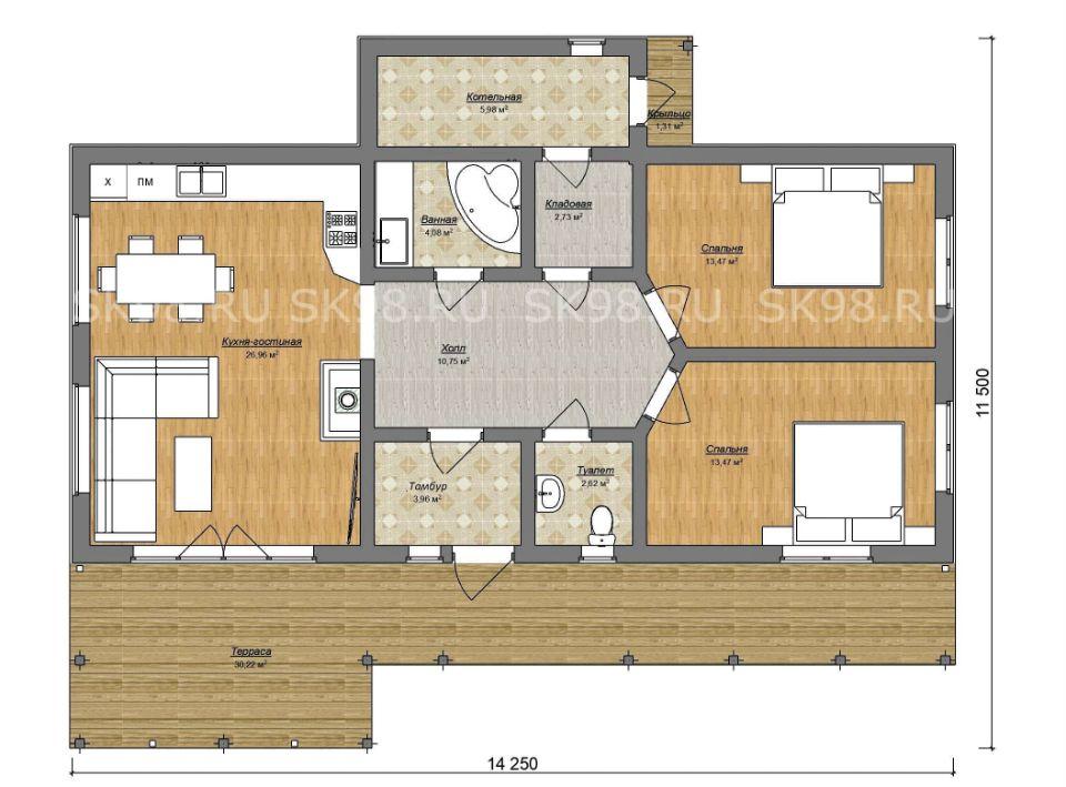 планировка дома ONE 84