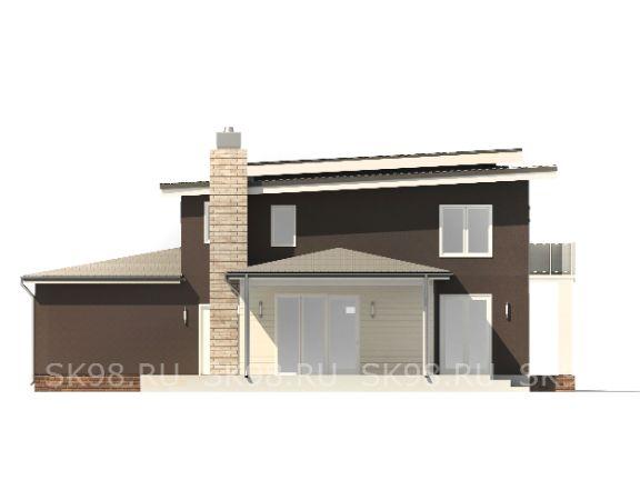 проект двухэтажного дома с гаражом TWO 312
