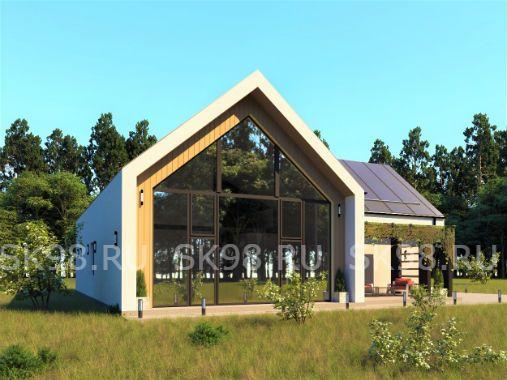 TWO 247 - проект дома с большим остеклением