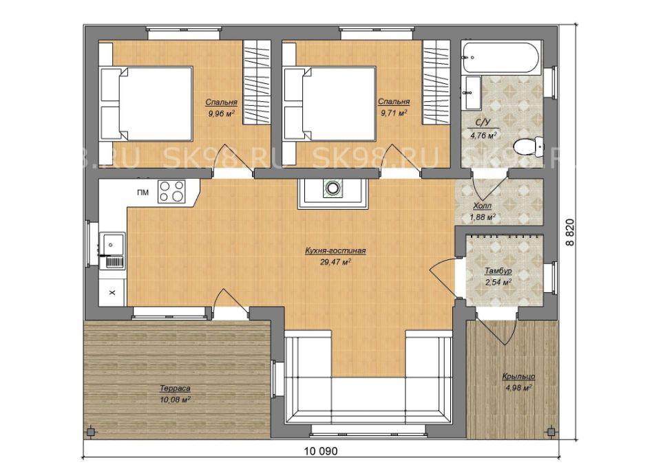 планировка дома ONE 58