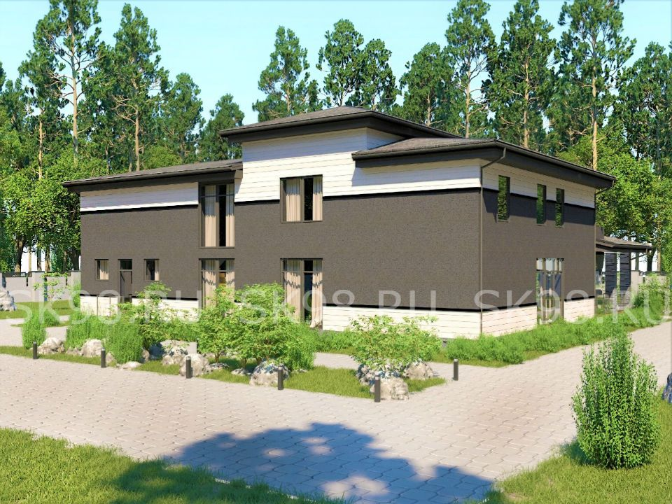 проект двухэтажного дома 500 М КВ
