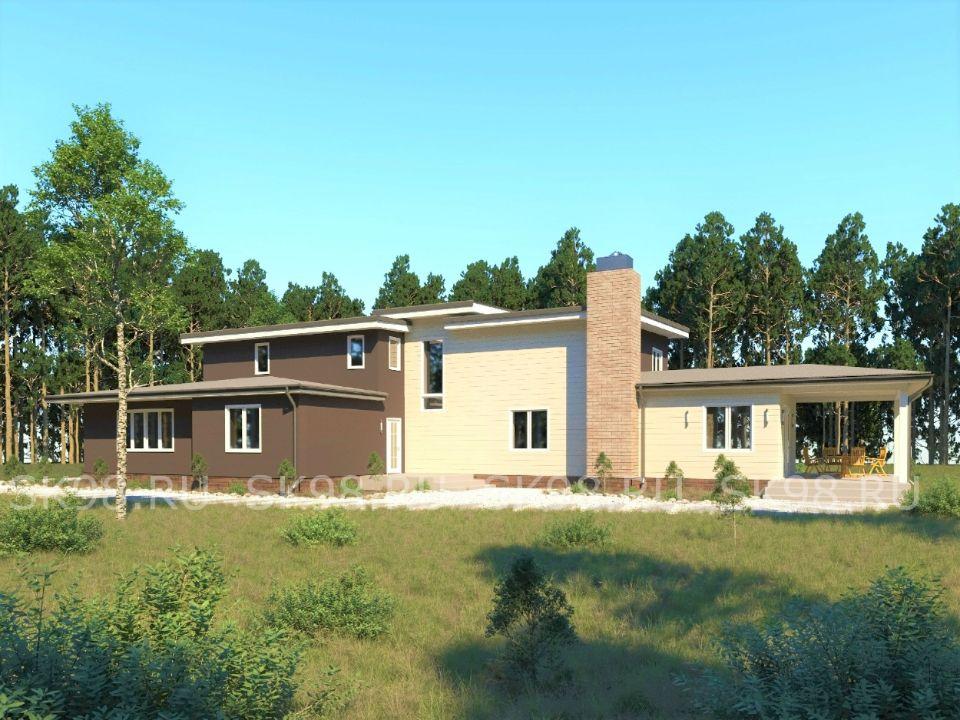 двухэтажный дом с гаражом TWO 312
