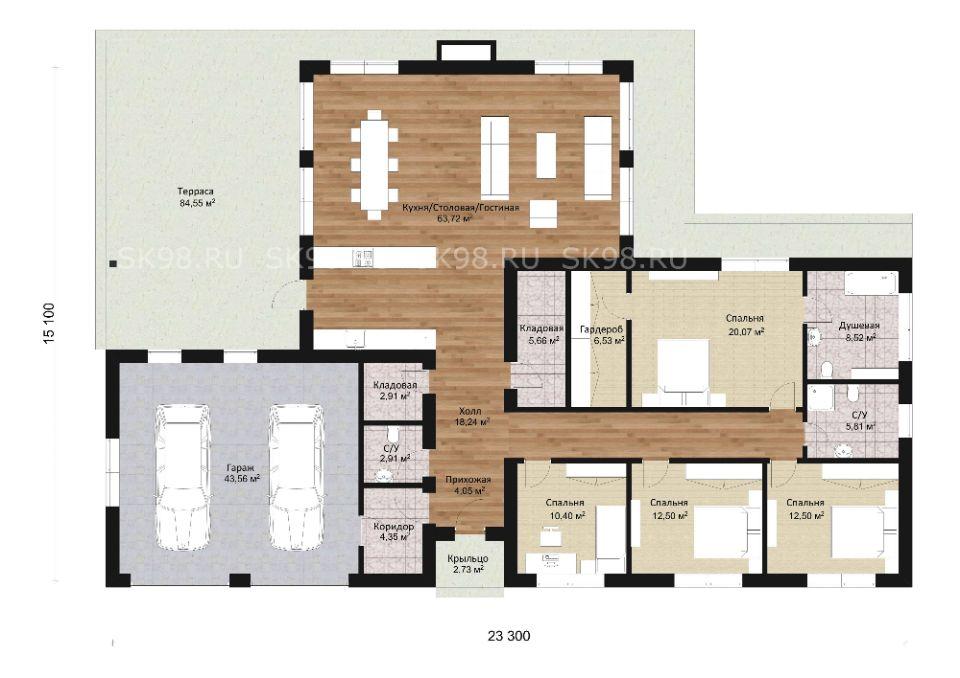 планировка дома ONE 221