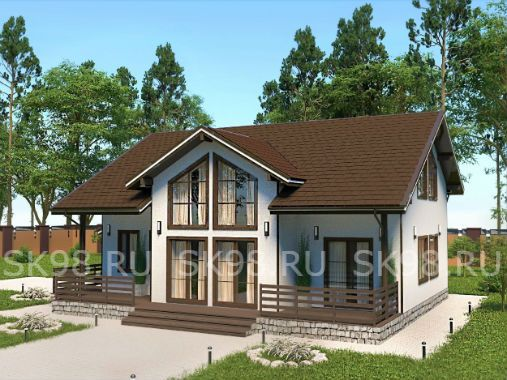TWO 141 - проект дома с мансардой