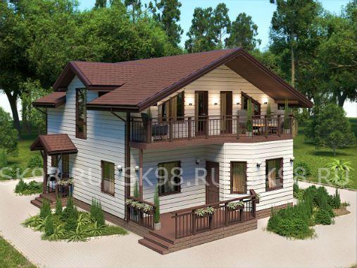 TWO 129 - проект дома с мансардой