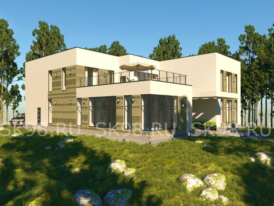 проект дома с бассейном внутри