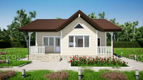 Проект одноэтажного дома до 100 м2