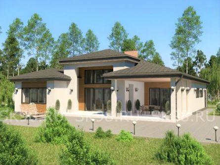 проект одноэтажного дома в американском стиле
