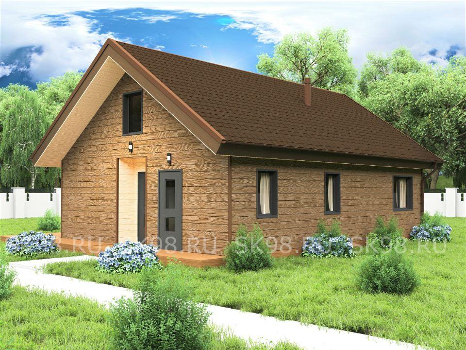 проект дома с лофтом - LOFT 87