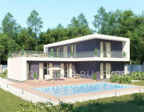 TWO 204 - проект дома с плоской крышей