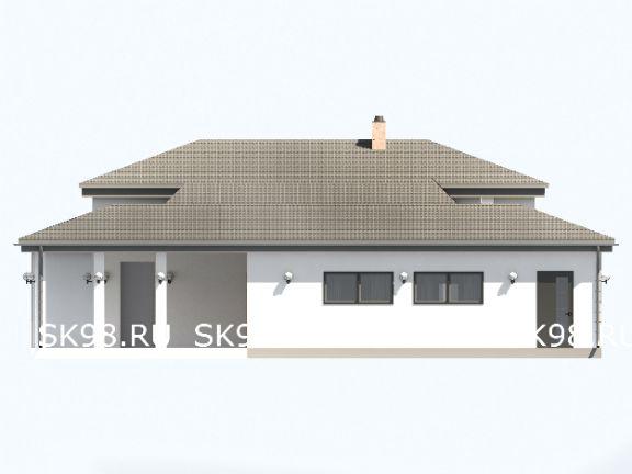 одноэтажный дом в американском стиле ONE 146