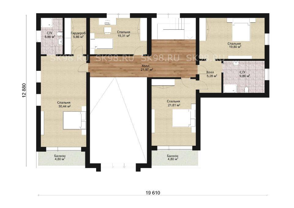 планировка дома TWO 344