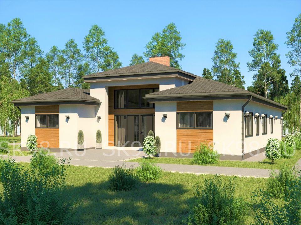 проект одноэтажного дома - 183 м²