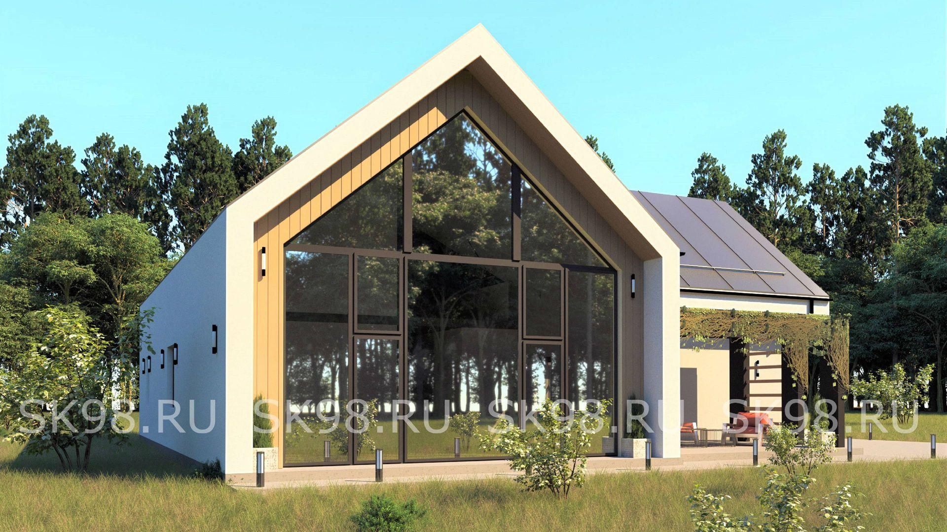 проект дома барнхаус - TWO 247