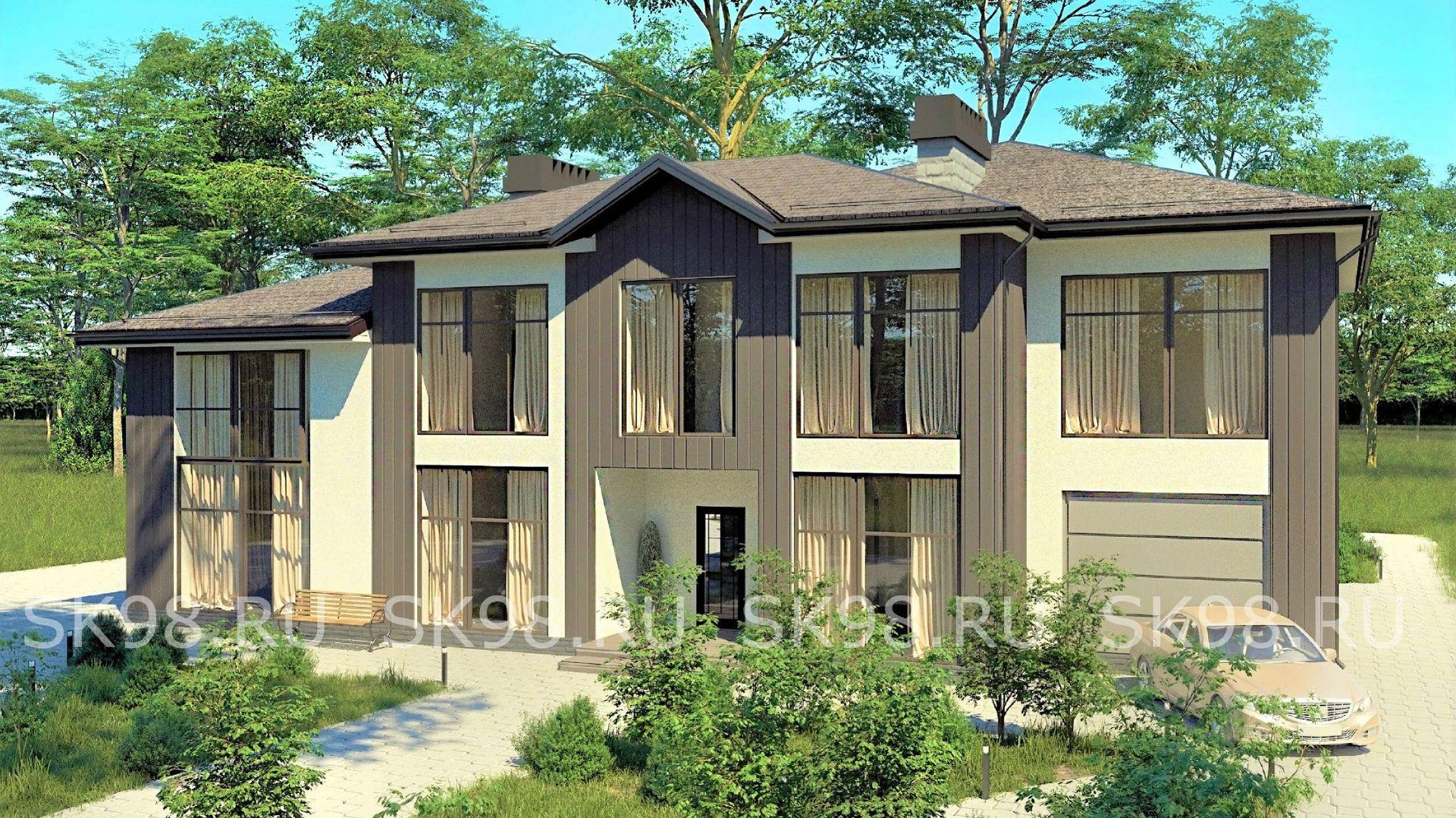 проект двухэтажного дома - TWO 306