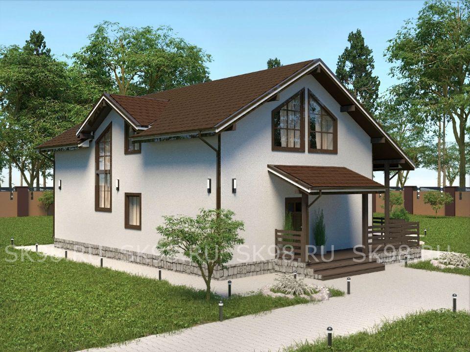 проект дома со вторым светом - TWO 141