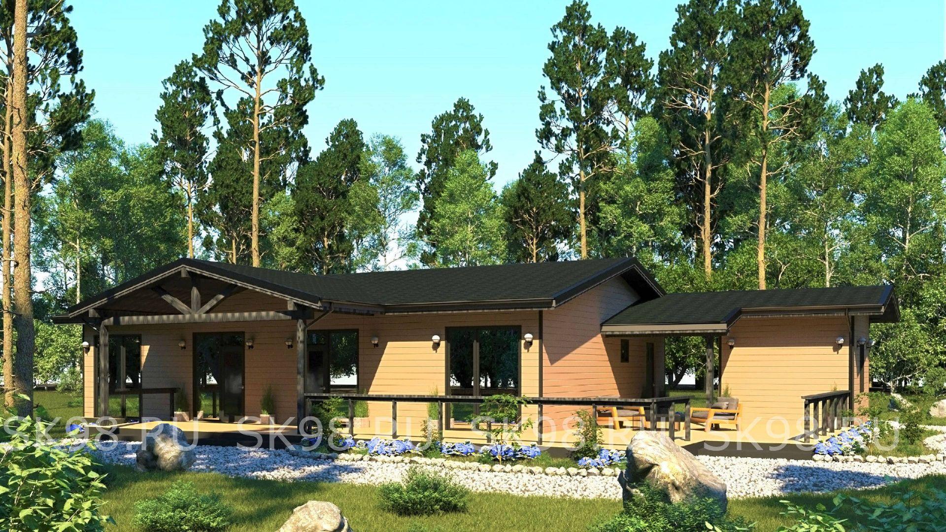 проект одноэтажного дома - ONE 123