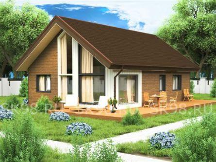 Проект одноэтажного дома с лофтом