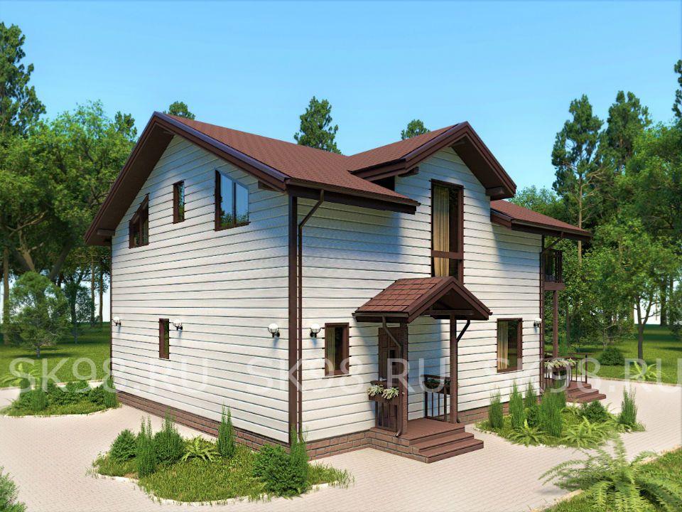 проект дома ДО 200 М. КВ. с мансардой TWO 129