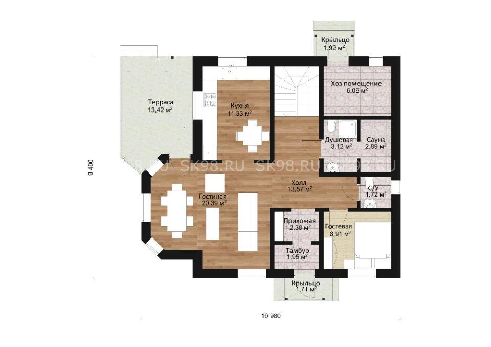 планировка дома TWO 129