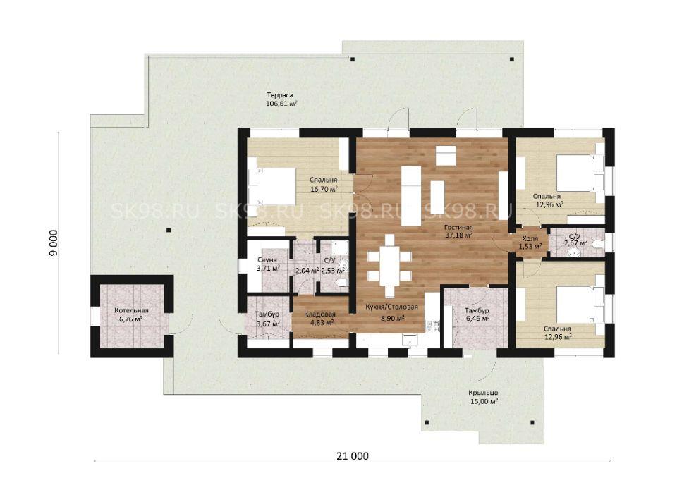 планировка дома ONE 123