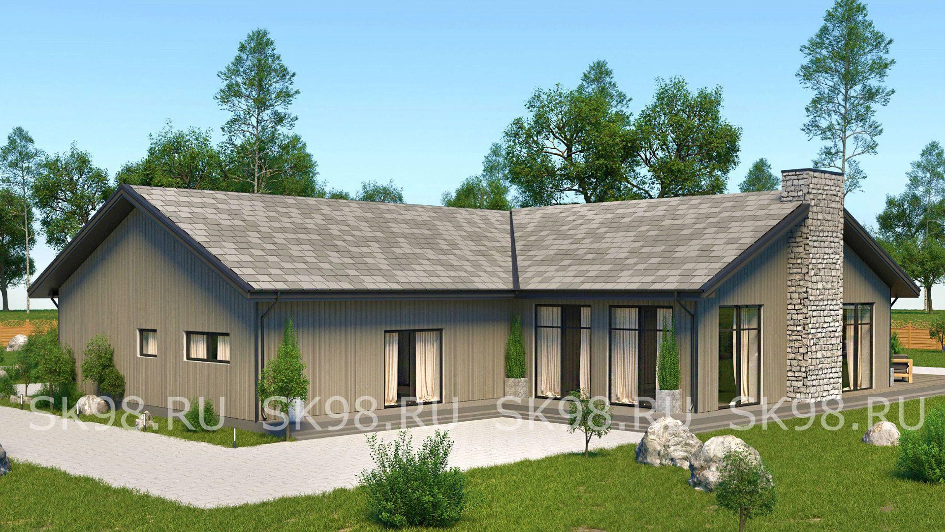 проект одноэтажного дома - ONE 221