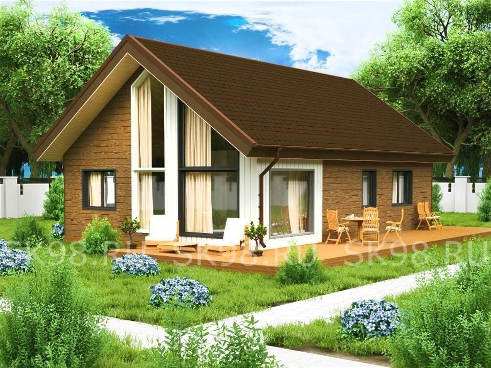 проект дома с лофтом - 133 м²