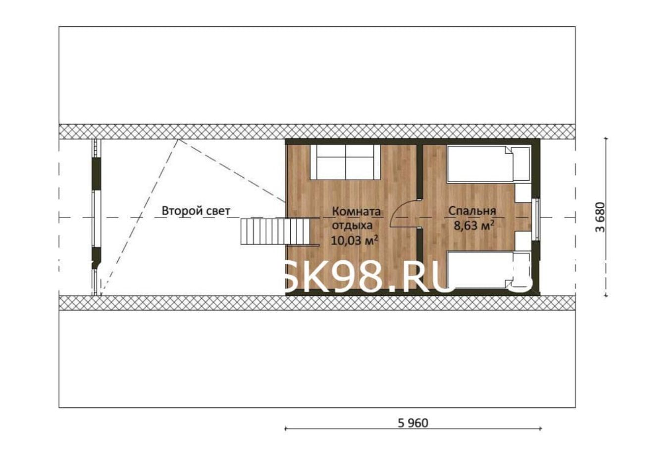 планировка лофта - 133 м²