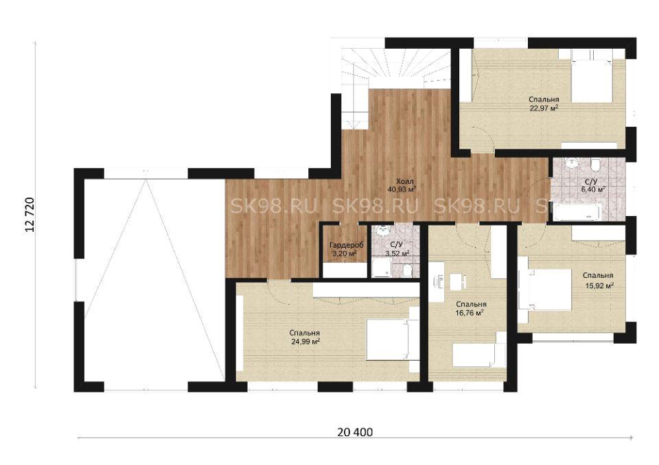 планировка дома TWO 306