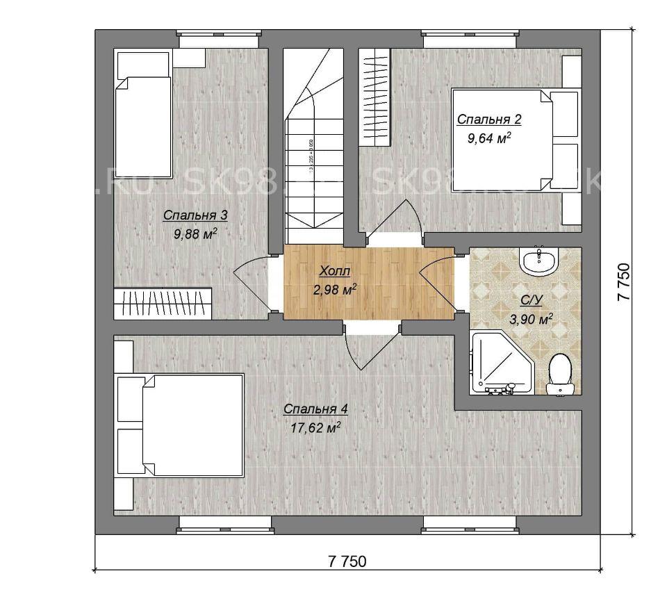 планировка дома TWO 88