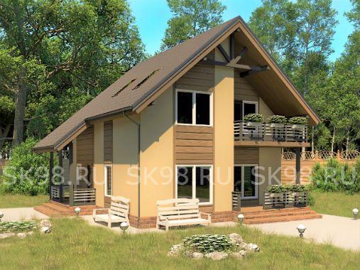 TWO 118 - проект дома с мансардой
