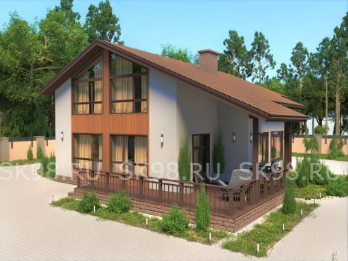 TWO 206  - проект дома с мансардой