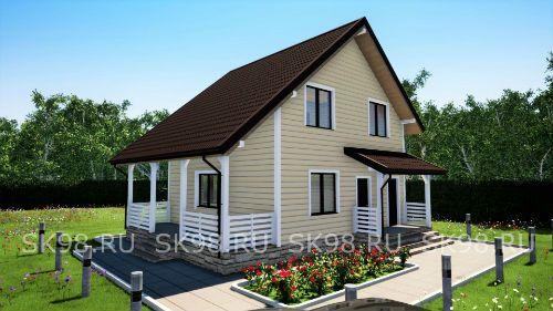 Проект мансардного дома TWO 88