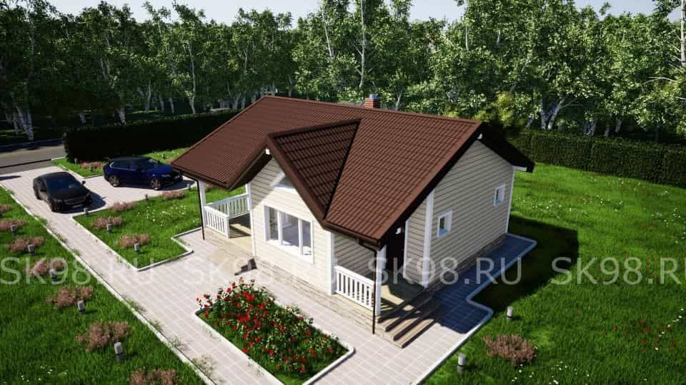 одноэтажный дом до 100 м2 - ONE 58