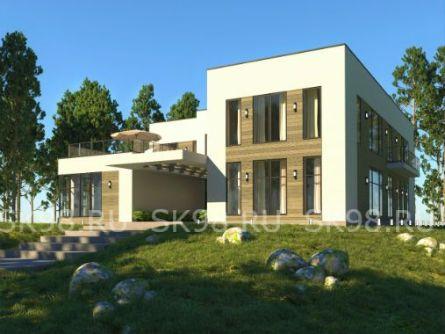 проект дома с бассейнов внутри