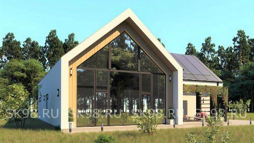 проект дома в стиле барнхаус