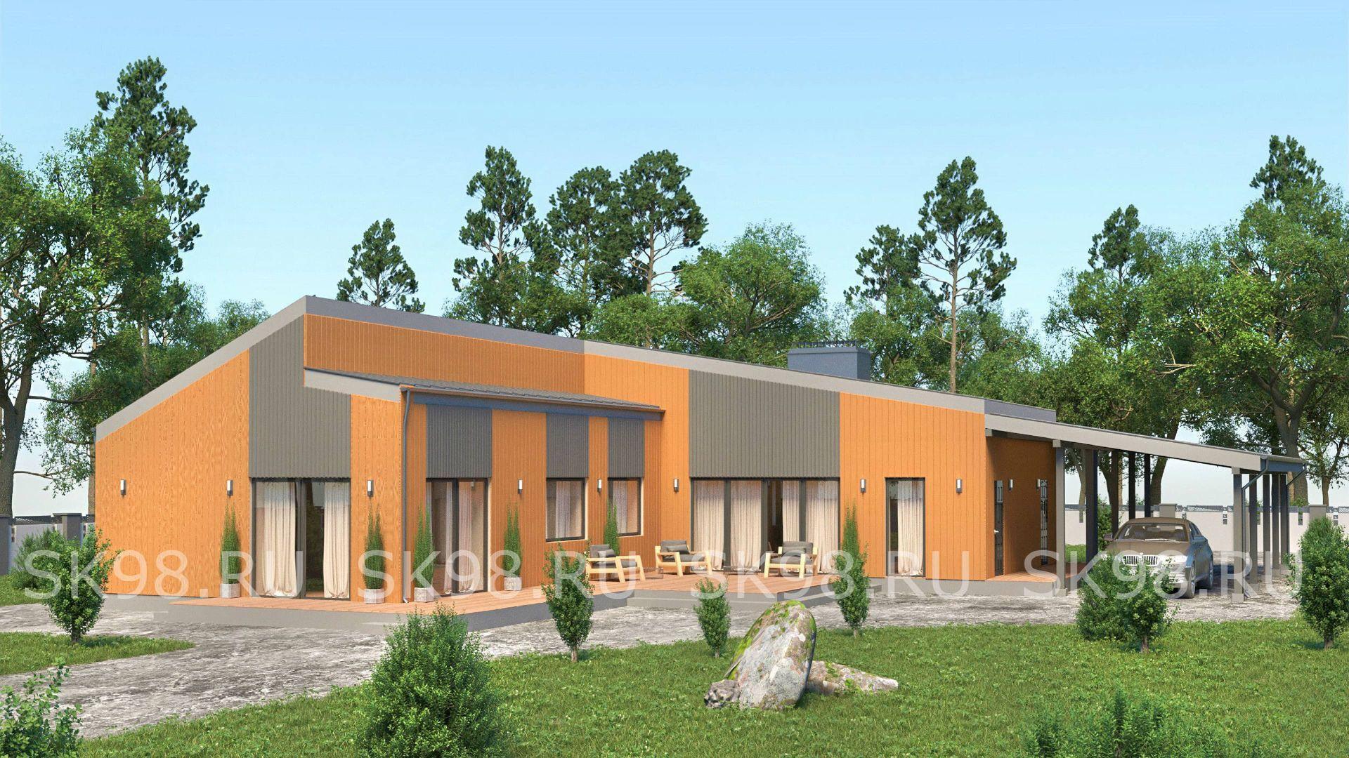 проект одноэтажного дома - ONE 144