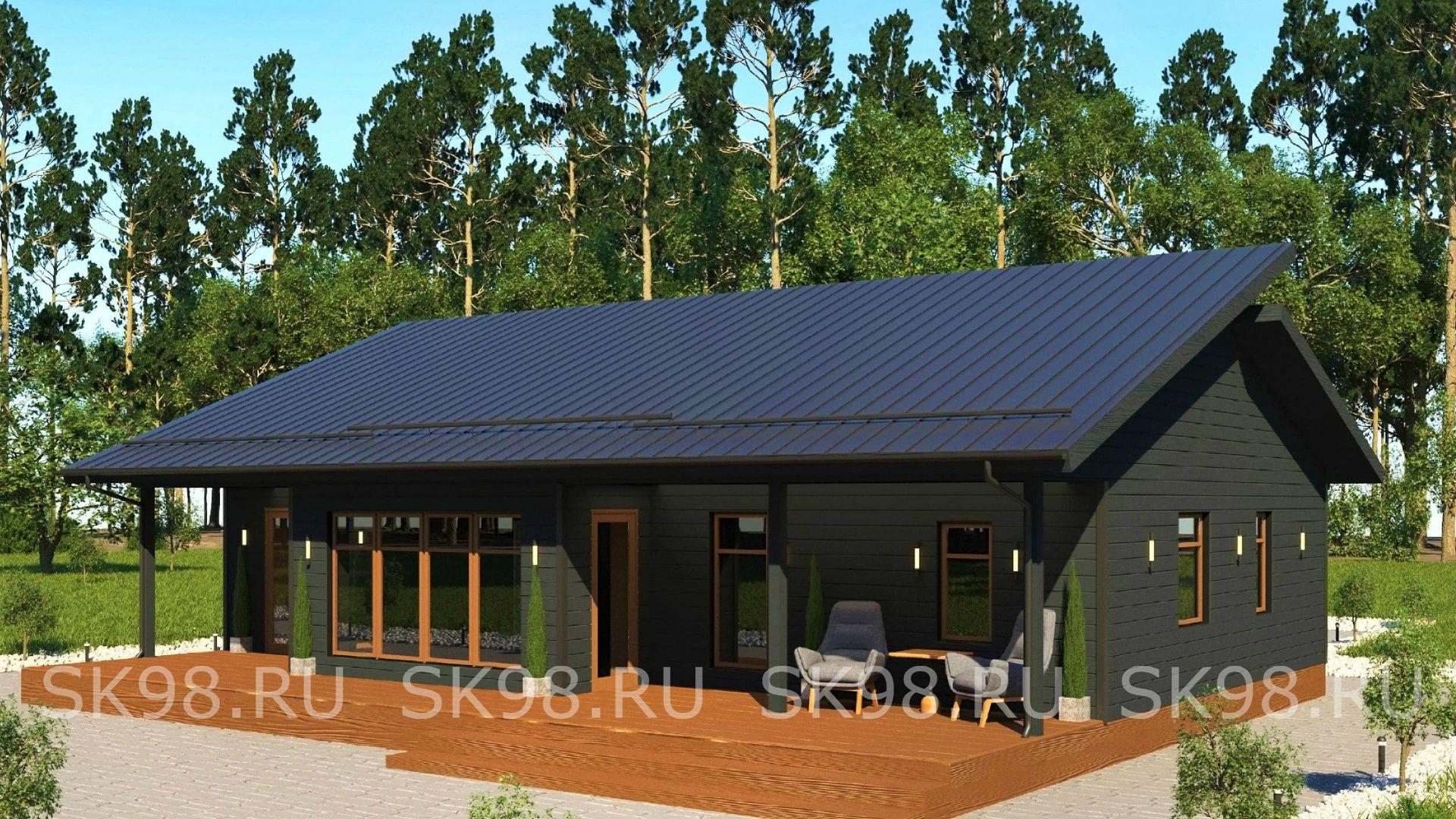 проект одноэтажного дома - ONE 100