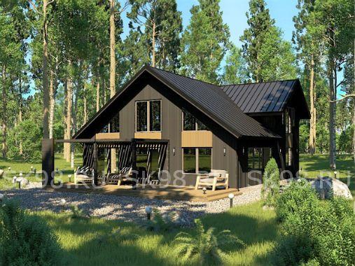 TWO 185 - проект дома с мансардой