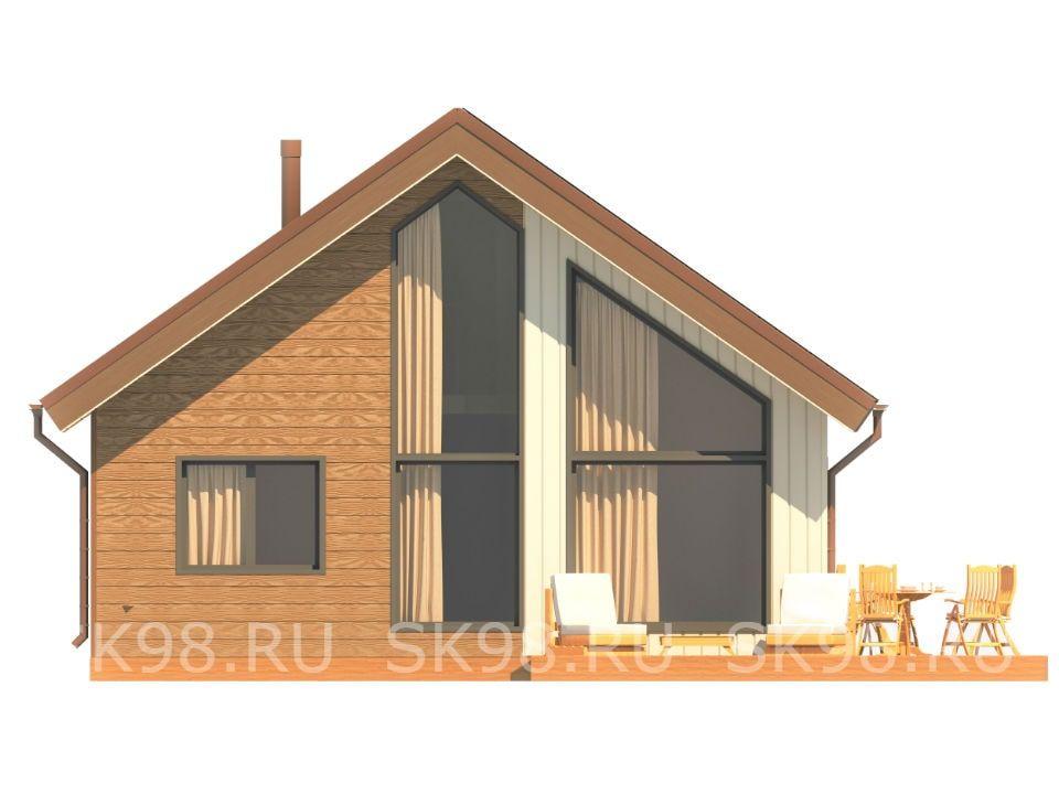 фасад дома с лофтом - 133 м²