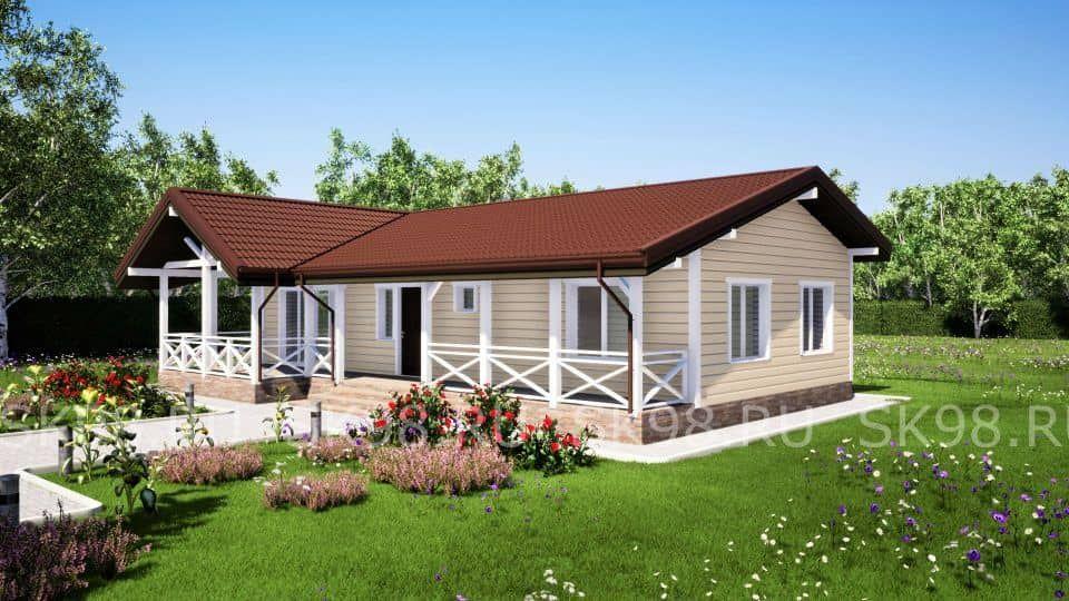 одноэтажный дом с террасой - ONE 84