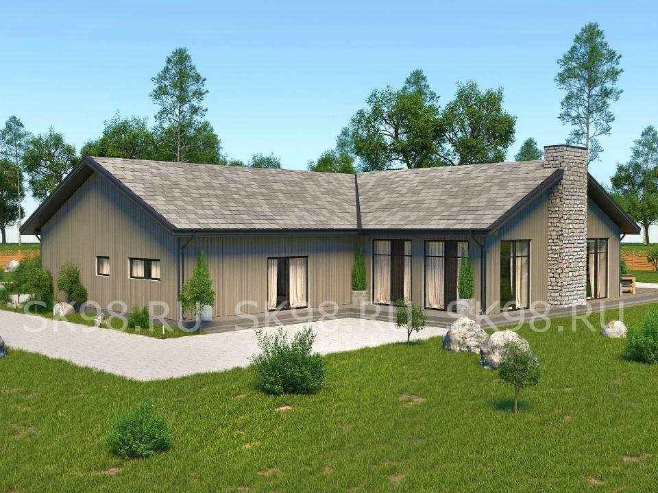 проект одноэтажного дома 250 М КВ