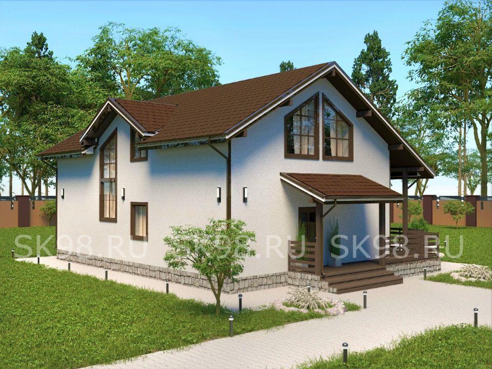 проект двухэтажного дома - 207 м²