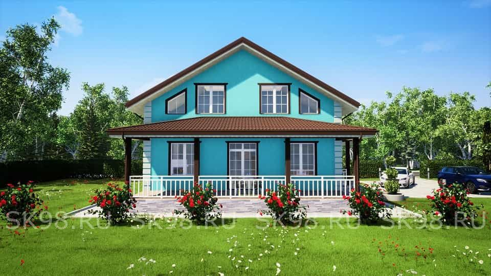 дом с мансардой 9х10 - TWO 148