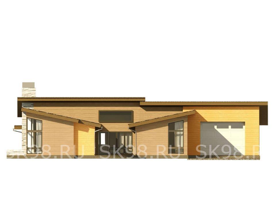 фасад одноэтажного дома ONE 183