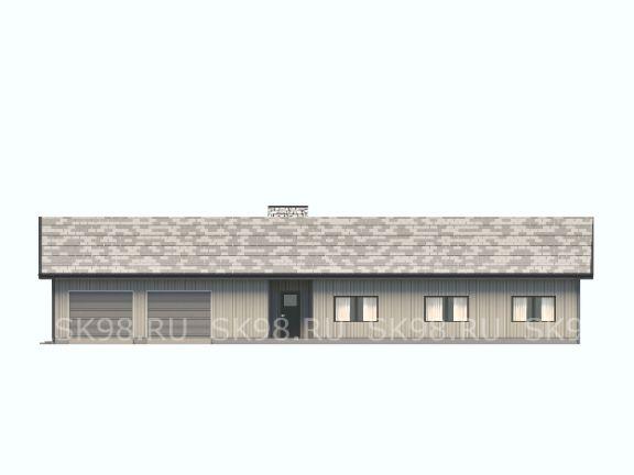 одноэтажный дом с гаражом ONE 221