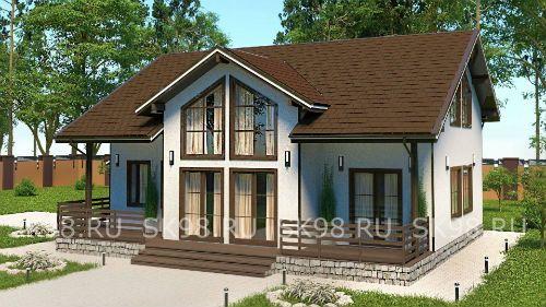 проект двухэтажного дома в скандинавском стиле