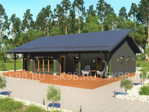 ONE 100 - проект одноэтажного дома