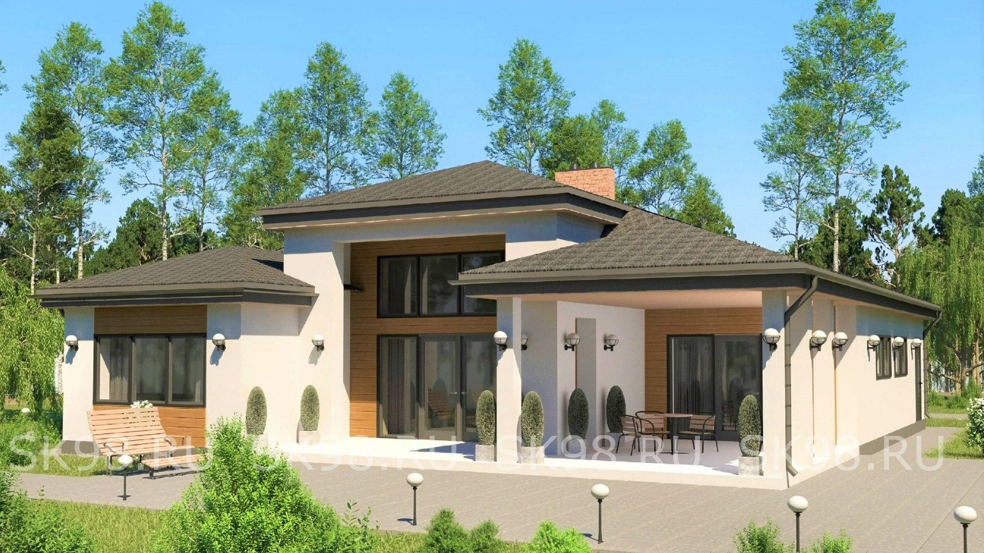 проект одноэтажного дома - ONE 146